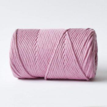 creadoodle basic collectie touw en koord voor macrame, weven, haken, breien, needle punch en meer 3 en 4 mm 100% katoen in lovely rosa