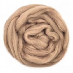 creadoodle lontwol wool roving mocca 702