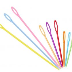 creadoodle needles good quality plastic 7 cm long in sets of 5