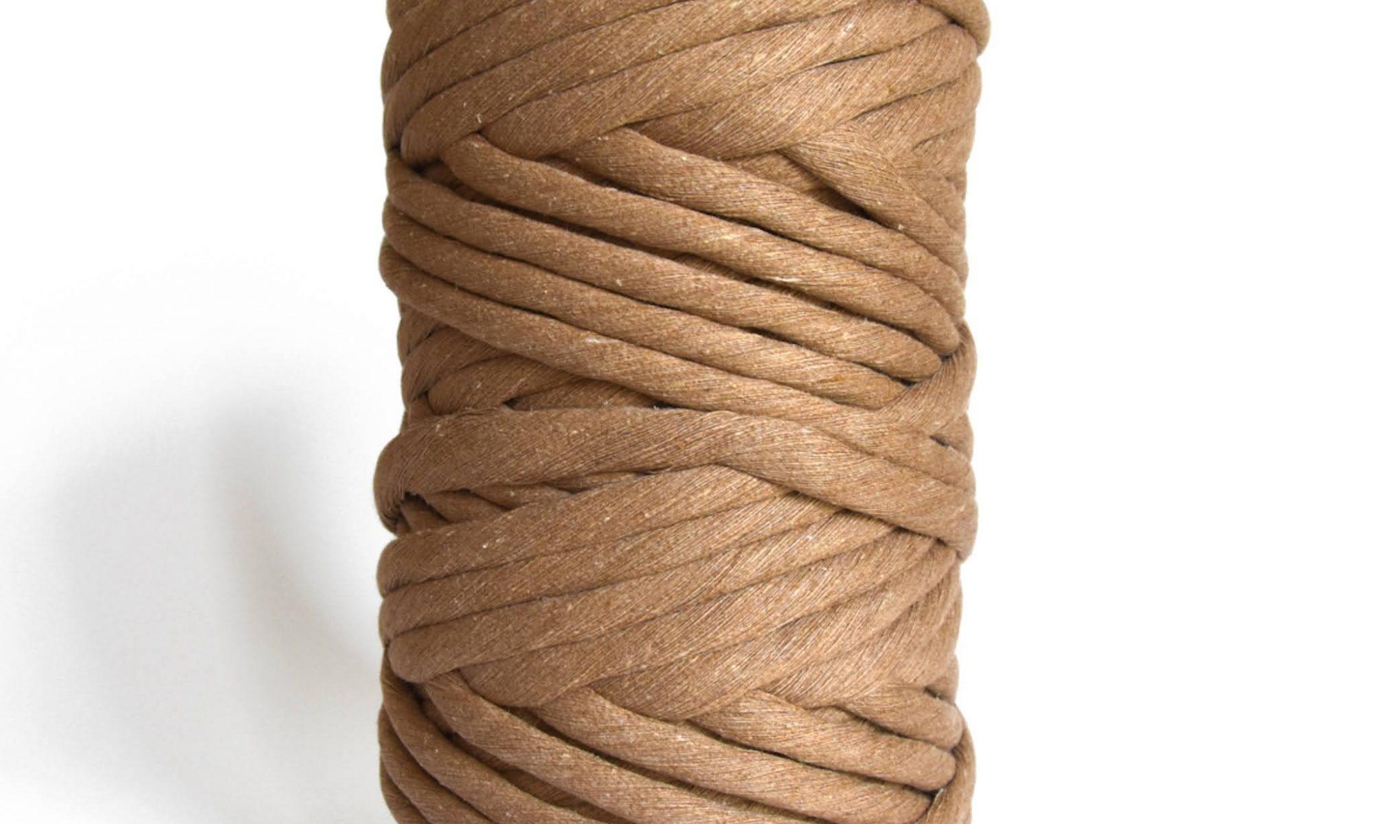 Creadoodle luxe collection katoen koord touw voor macrame weven en meer 9 en 12 mm chunky gerecycled katoen in Mocha