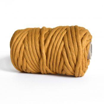 Creadoodle luxe collection katoen koord touw voor macrame weven en meer 9 en 12 mm chunky gerecycled katoen in mustard