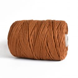 creadoodle luxe collection cotton string for macrame, weaving, crochet, knitting, needle punch and more 5 mm 1-ply copper