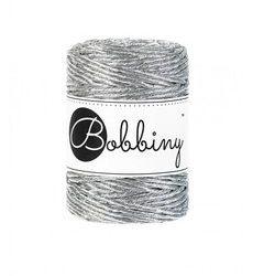 creadoodle 3 mm bobbiny metallics silver cord, macrame, weaving weven