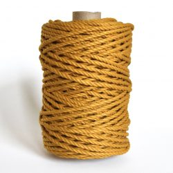 creadoodle luxe collection macrame weaving 5 mm mustard 3-ply twisted rope touw