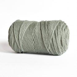 Creadoodle luxe collection katoen koord touw oekotex100 voor macrame, weven, haken, breien, needel punch en meer in 5 mm sage