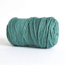 Creadoodle luxe collection katoen koord touw oekotex100 voor macrame, weven, haken, breien, needel punch en meer in 5 mm sea green