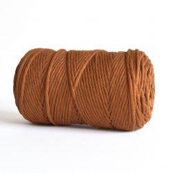 Creadoodle luxe collection katoen koord touw oekotex100 voor macrame, weven, haken, breien, needle punch en meer in 3 mm copper