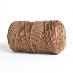 Creadoodle luxe collection katoen koord touw oekotex100 voor macrame, weven, haken, breien, needle punch en meer in 3 mm mocha