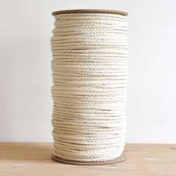 creadoodle luxe collectie touw 6 mm twisted 100% katoen in naturel wit / ecru voor macrame en andere hobby