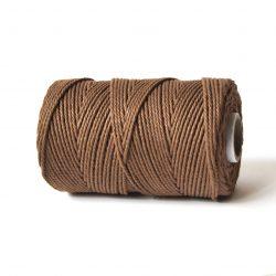 creadoodle soft collectie 2.5 mm gerecycled katoen touw voor macrame, weven, haken, breien, needle punch en meer sienna