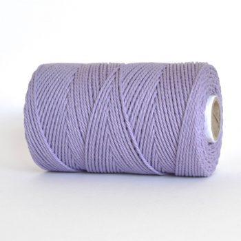 creadoodle soft collectie 2.5 mm gerecycled katoen touw voor macrame, weven, haken, breien, needle punch en meer highland heather lavendel