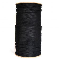 creadoodle luxe collection cotton rope katoen touw 6 mm zwart black 3-ply twisted gedraaid macrame