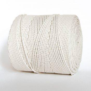 Creadoodle basis collectie katoen touw voor macrame, weven en andere hobby 1.5 kilo 100% katoen in naturel wit 4 mm