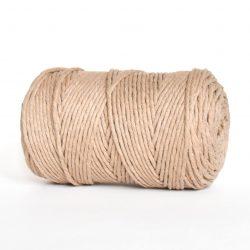 Creadoodle luxe collection katoen koord touw oekotex100 voor macrame, weven, haken, breien, needel punch en meer in 3 mm sahara dust