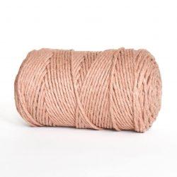 Creadoodle luxe collection katoen koord touw oekotex100 voor macrame, weven, haken, breien, needel punch en meer in 5 mm terra pink