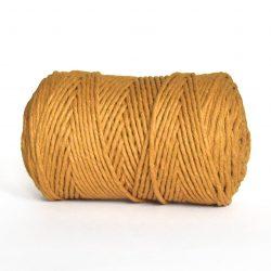 Creadoodle luxe collection katoen koord touw oekotex100 voor macrame, weven, haken, breien, needel punch en meer in 3 mm mustard