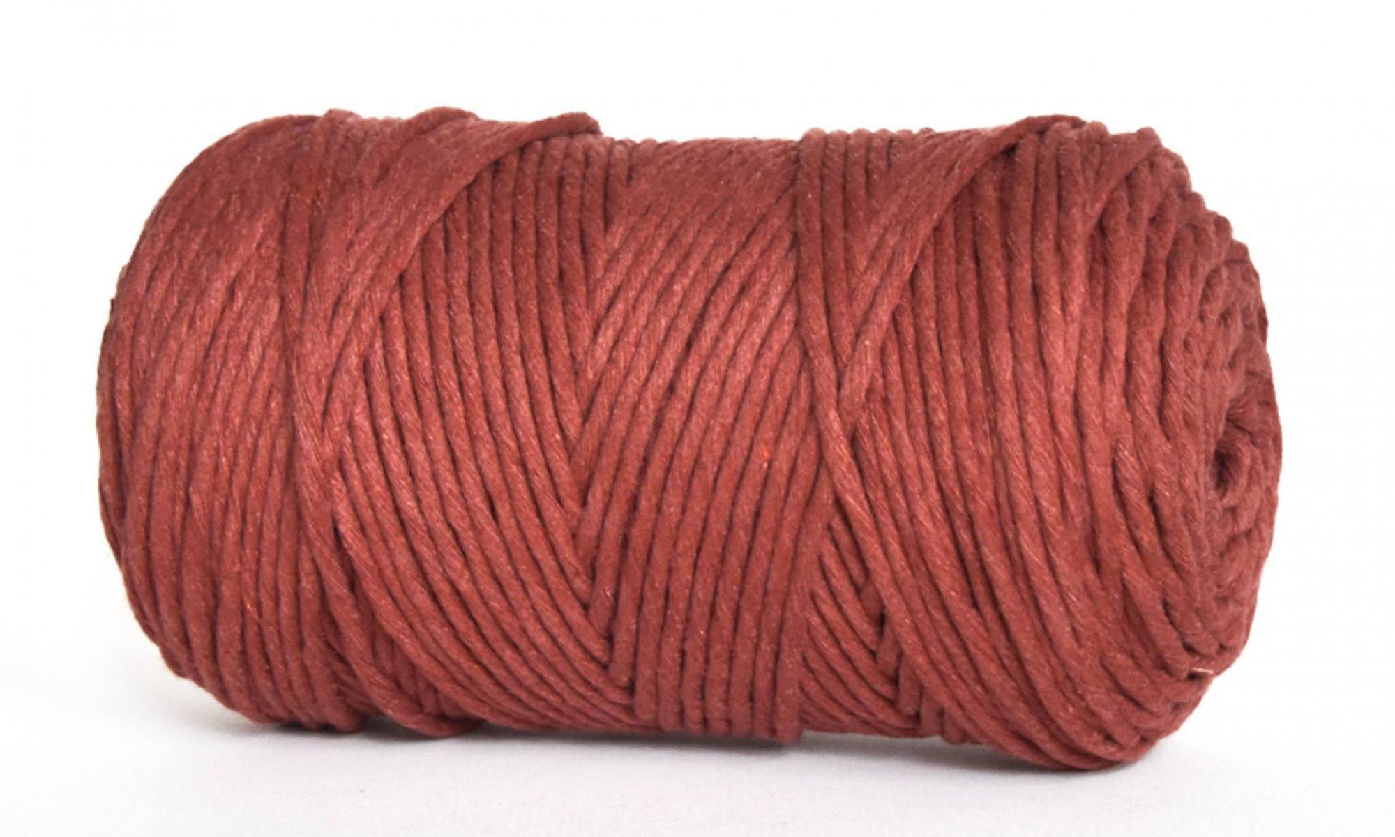 Creadoodle luxe collectie katoen koord touw oekotex100 voor macrame, weven, haken, breien, needle punch en meer in 3 mm red earth