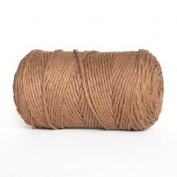 Creadoodle luxe collectie katoen koord in 5 mm Mocha voor macrame, weven, haken, breien, needle punch en meer
