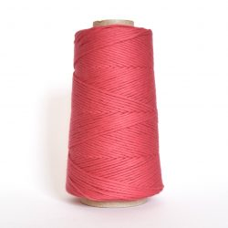 Creadoodle combed cotton collection 1 mm of the highest quality cotton for macrame, weaving, crochet, needle punch, embroidery, super kwaliteit katoen koord 30 colours available watermelon