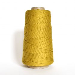 Creadoodle combed cotton collection 1 mm of the highest quality cotton for macrame, weaving, crochet, needle punch, embroidery, super kwaliteit katoen koord 30 colours available chartreuse