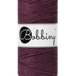Creadoodle bobbiny collectie voor macrame, weven, breien, haken , needle punch en meer 1-ply 3 mm blackberry
