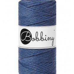 Creadoodle bobbiny collectie voor macrame, weven, breien, haken , needle punch en meer 1-ply 3 mm jeans