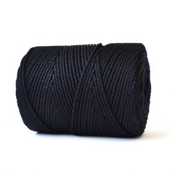 creadoodle basic collectie katoen touw voor macrame, weven needle punch, haken, breien en meer 100% katoen 4 mm black
