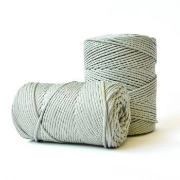 creadoodle basic collectie touw en koord voor macrame, weven, haken, breien, needle punch en meer 3 en 4 mm 100% katoen in early dew