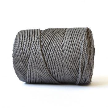 creadoodle basic collectie katoen touw voor macrame, weven needle punch, haken, breien en meer 100% katoen 4 mm earthstone grey
