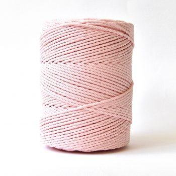 creadoodle basic collectie katoen touw voor macrame, weven needle punch, haken, breien en meer 100% katoen 4 mm rose quartz