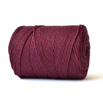 creadoodle basic collectie katoen touw voor macrame, weven needle punch, haken, breien en meer 100% katoen 4 mm vino