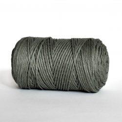 Creadoodle luxe collectie katoen koord touw oekotex100 voor macrame, weven, haken, breien, needle punch en meer in 3 mm army green
