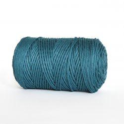Creadoodle luxe collectie katoen koord touw oekotex100 voor macrame, weven, haken, breien, needle punch en meer in 3 mm peacock