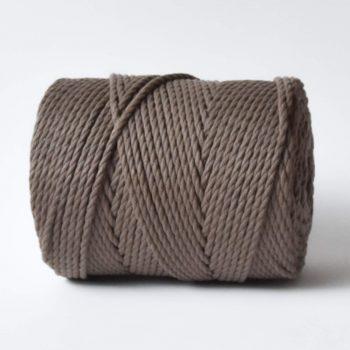 Creadoodle basic collectie touw en koord voor macrame, weven, haken, breien, needle punch en meer 4 mm twisted in taupe